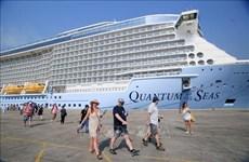 国际五星级豪华邮轮海洋量子号抵达胡志明市港口
