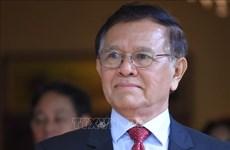 柬埔寨金边法院对涉嫌叛国罪的柬埔寨前反对党救国党领袖金速卡进行审理
