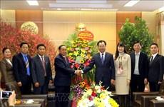 老挝华潘省领导向越南太原省领导和人民致以新春祝福