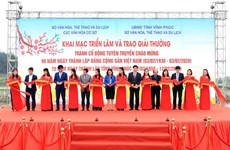 越南共产党建党90周年宣传海报展暨颁奖仪式开幕