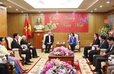 中央民运部部长张氏梅会见越南天主教团结委员会代表团