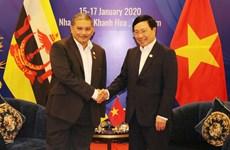 越南政府副总理兼外长范平明会见文莱外交部第二部长艾瑞万