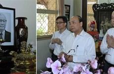 政府总理阮春福上香缅怀已故党和国家领导同志