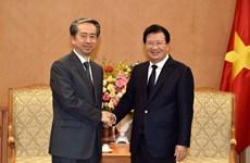 越南政府副总理郑廷勇会见中国驻越大使熊波