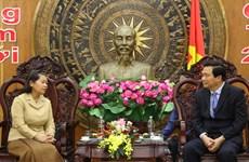 柬埔寨副首相梅森安春节之际率团走访越南隆安省