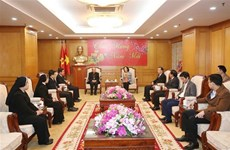 中央民运部部长张氏梅会见兴化教区代表团
