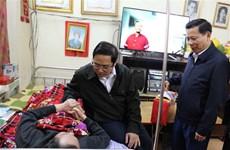 范明政春节前走访慰问伤残军人疗养中心