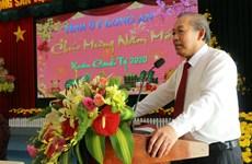 政府副总理张和平向隆安省领导和人民拜年