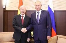 越俄两国领导人就两国建交70周年互致贺电