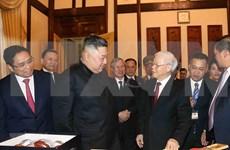 朝鲜国务委员会委员长金正恩强化发展越朝友好合作关系的决心