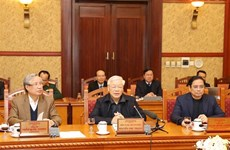 越共中央总书记、国家主席阮富仲主持中央书记处会议---全国欢庆2020年庚子春节