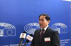 越南副外长裴青山:EVFTA和EVIPA对越南和欧盟具有重大的战略意义和经济意义