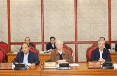 越共中央政治局就完善即将提交基层党代会的越共十三大文件草案召开会议