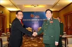 越南防长在东盟国防部长非正式会议框架内会见印尼高级军事代表团