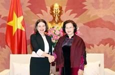 越南国会主席阮氏金银会见澳大利亚驻越南大使罗宾•穆迪