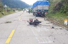 昆嵩省发生一起交通事故  造成两名外籍游客伤亡