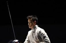 越南击剑运动员武成安参加在波兰举行的2020年世界击剑锦标赛