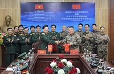 越南国防部向中国国防部赠送防控新冠肺炎疫情的医疗物资
