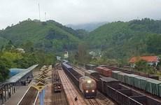 越南通过同登国际火车站向中国出口460吨农产品