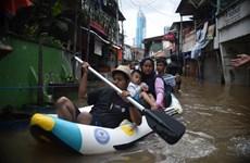 印尼暴雨引发洪涝造成至少5人死亡3人失踪