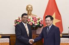 政府副总理兼外长范平明会见斯里兰卡新任驻越大使