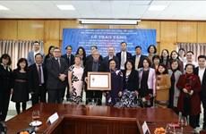芬兰—越南友好协会荣获越南的友谊勋章