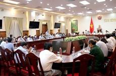 新冠肺炎疫情:越南卫生部副部长阮长山视察平顺省防疫工作