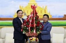 越南党和国家领导致电和送花篮庆祝老挝人民革命党成立65周年