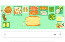 谷歌在主屏搜索工具栏上显示越南面包特色涂鸦