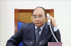 越南政府总理阮春福与老挝总理通伦和柬埔寨首相洪森通电话