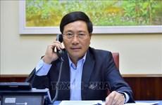 越南政府副总理兼外交部长范平明与日本外务大臣茂木敏充通电话