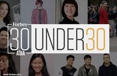 越南3名企业家荣登《福布斯》发布的2020年《亚洲30 位30 岁以下精英榜》