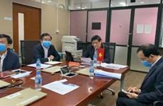越南卫生部副部长阮青龙与老挝卫生部部长召开视频会议