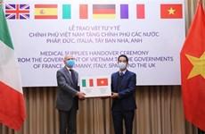 意大利外交部和内政部致信感谢越南支援意大利新冠肺炎疫情防控工作