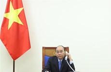 越南政府总理阮春福与印度总理就新冠肺炎疫情防控合作通电话