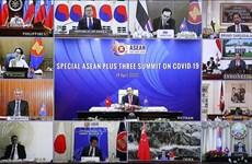 加强东盟与中日韩在防控疫情、保持稳定、发展经济等方面的合作