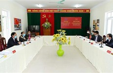 清化省与老挝华潘省互相分享疫情防控经验