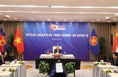 越南政府总理阮春福主持召开东盟与中日韩抗击新冠肺炎疫情领导人特别会议