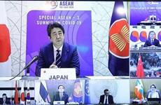 """日本首相安倍晋三:东盟与东亚各国的合作是抗击疫情的""""钥匙"""""""