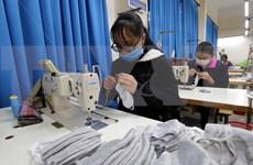 越南10号制衣公司集中精力按订单生产抗菌口罩