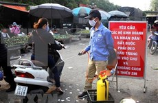 河内将在部分人群聚集的批发市场开展新冠肺炎病毒快速检测