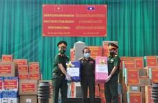 越南向老挝各地援助防疫物资