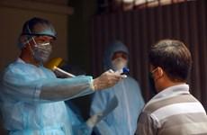 在河内各批发市场采集的1064份样本的新冠病毒快速检测结果都呈阴性