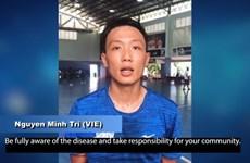 越南首名五人制足球球员阮明智参加BreakTheChain抗疫公益活动