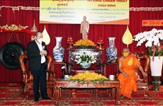 政府副总理张和平向胡志明市高棉族同胞致以新年祝福
