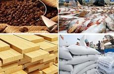 今年前4月越南农林水产品出口额下降近17%