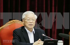 越共中央总书记、国家主席阮富仲:越共十三大人事准备工作要特别注意的若干问题
