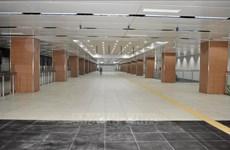 胡志明市市内地铁一号线市剧院站B1层基本竣工