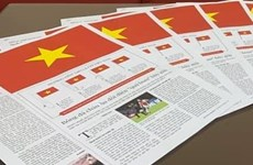 国家统一45周年:利用报纸制作特殊国旗