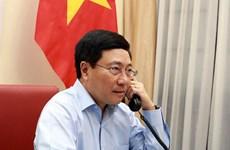 政府副总理兼外长范平明与爱沙尼亚外长通电话